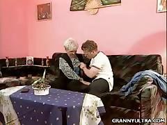 Tow-headed Granny Fucked