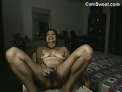 Asian Grandma Masturbating