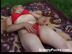 Granny Gets Hideous near Dildo
