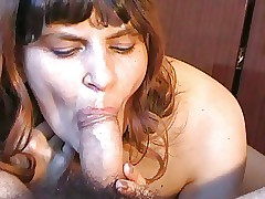 Russian beloved untrained blowjob