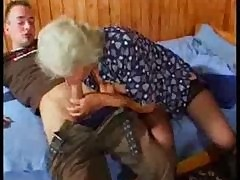Big-busted German Granny fucks..