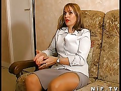 French mommy gets anal fucked