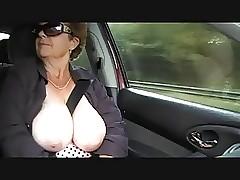 Granny unadorned alfresco