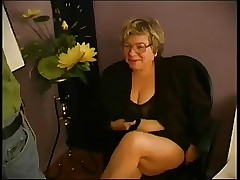 BBW Granny Instructor Fucks Pupil