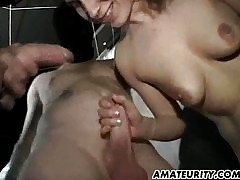 MILF gangbang just about burly..