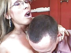 Hot MILF shagging asshole with..
