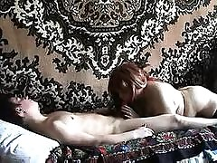 Russian adult redhead shafting..