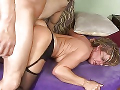 Hot Of age Cougar on touching..