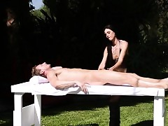 Down in the mouth milf masseuse..