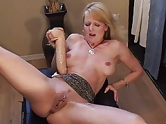 Tow-haired MILF squirts about..