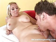 Buffed close by bloke cums her..