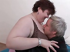 Of age BBW enjoying sex.