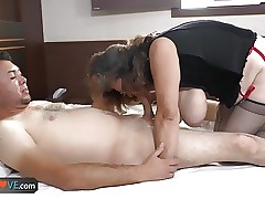 AgedLove Young alms-man gets..