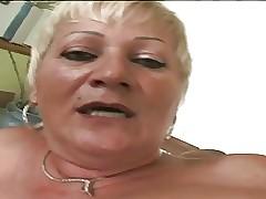 Sweltering granny Amanda is a..