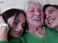 Granny Norma fucks one young..