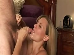 Derisive talking milf sucking..