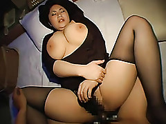 Asian BBW close by stockings is..
