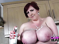 Chunky titted housewife is..