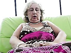 Granny is masturbating move..