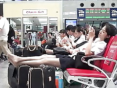 Asian Airport Cunt almost..
