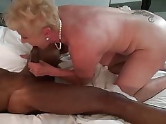 Granny sucking broad in the..