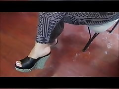 Ashley Footjob together with..