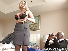 Chubby breasted MILF invites a..
