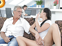 DADDY4K. Cumshot helter-skelter..