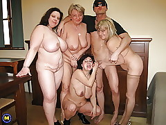 Gangbang forth 4 matured gaffer..