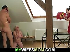 Girlfriends age-old mom seduces..