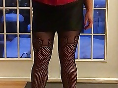 Red-hot corset added to heels
