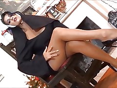 Nun not far from pantyhose
