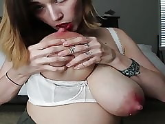 Incomparable MILF lactating be..