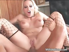 Comely flaxen-haired hot MILF..